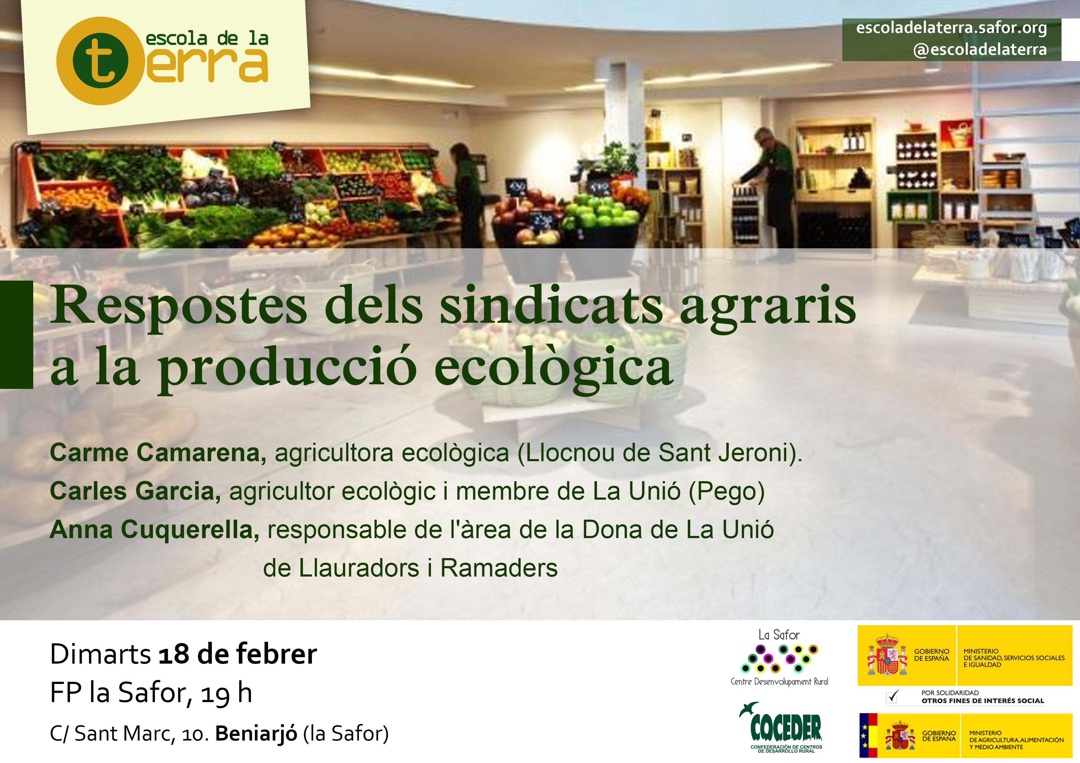 Taula redona sobre les respostes dels sindicats agraris a la producció ecològica